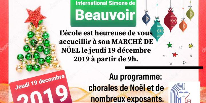 Marché de Noël-jeudi 19 décembre