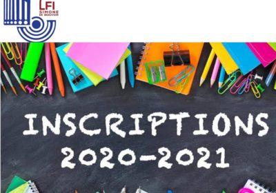INSCRIPTIONS 2020/2021